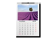 Kalendarz Pionowy 21x30cm /12miesięcy+okładka.Cena 49zł